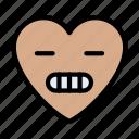 grimacing, face, emoji, smiley, emoticon