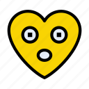 heart, emoji, astonishedface, smiley, face