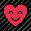 heart, happy, love, emoji, face