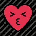 kiss, love, heart, face, emoji