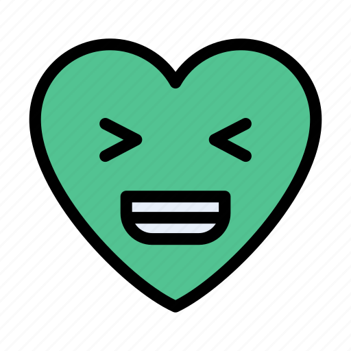 Laugh, happy, heart, feeling, emoji icon - Download on Iconfinder