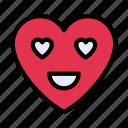 lovedeyes, heart, feeling, emoji, face