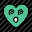 rollingeye, face, emoji, heart, feeling