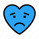 sad, unhappy, face, emoji, disappointed