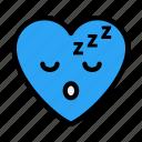sleepy, face, heart, emoji, emoticon