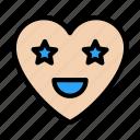 stareyes, face, heart, feeling, emoji