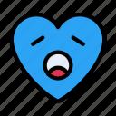 tiredface, emoji, heart, smiley, emoticon