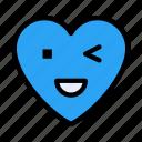 winkingeye, heart, emoji, face, emoticon