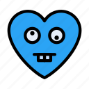 zanyface, heart, feeling, emoji, emotion