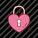 heart, lock, love, romance, romantic, valentines