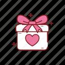 gift, heart, love, present, romance, valentine