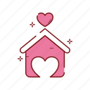 heart, home, house, love, romance, romantic, valentine