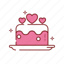 cake, heart, love, romance, valentine