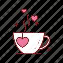 heart, love, romance, romantic, tea, valentine