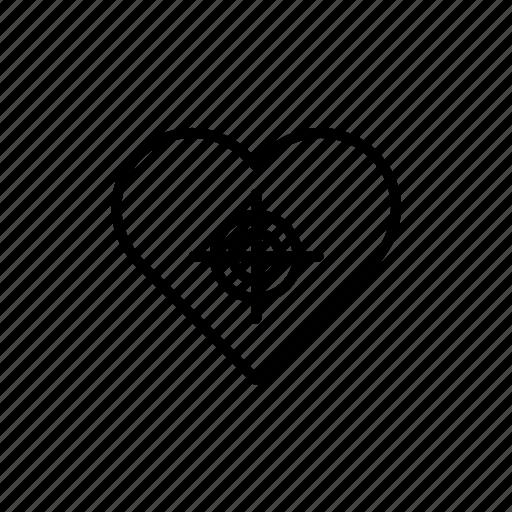 day, heart, love, target, valentine, valentine's, valentines icon