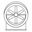 air, electric, fan, line, outline, thin, wind icon