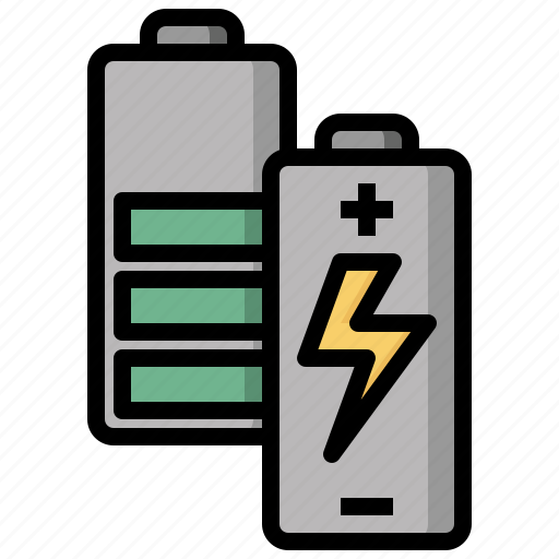 Battery, full, level, status, technology icon - Download on Iconfinder