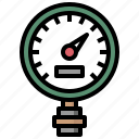 construction, gauge, indicator, manometer, measurement, temperature icon