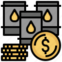 dollar, gasoline, industry, oil, petroleum, price, stats icon