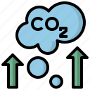 buildings, co2, fumes, industrial, pollution, smoke, tower icon