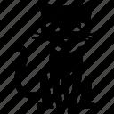 black cat, cat, halloween, scary, sit icon