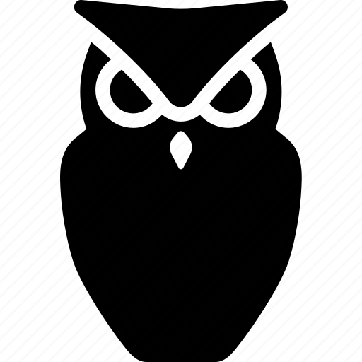 halloween, horror, night, owl, scary icon