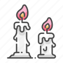 candle, candlelight, decorative, fire, flame, halloween, heat icon