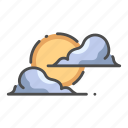 cloud, dusk, halloween, moon, nature, night, sky icon