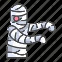bandage, costume, creepy, funerary, ghost, halloween, mummy icon