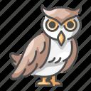 halloween, nature, nigh, owl, wildlife, wing icon