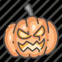 celebration, decorative, festive, halloween, pumpkin, spooky, vegetable icon