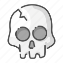 ancient, dead, halloween, head, horror, skeleton, skull icon