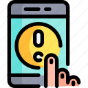 click, communication, contact, help, phone, smartphone, support icon