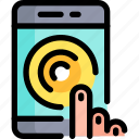 click, contact, help, smartphone, support icon