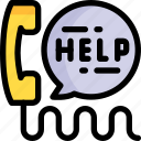 call, center, communication, contact, help, phone, support icon