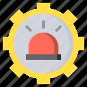 alarm, alert, danger, flashlight, police, siren, urgent icon