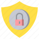 lock, locked, padlock, secure, security, shield icon