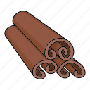 cinnamon, cooking, eco, food, plant, seasoning, spice icon