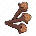 clove, cooking, eco, food, plant, seasoning, spice icon