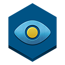 a, eye, in, sky icon