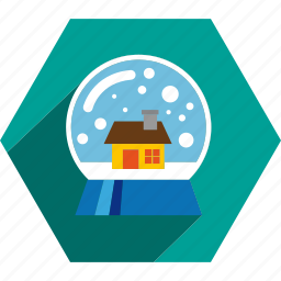ball, glass, ornament, snow icon