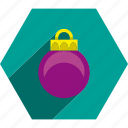 ball, christmas, ornament, tree icon