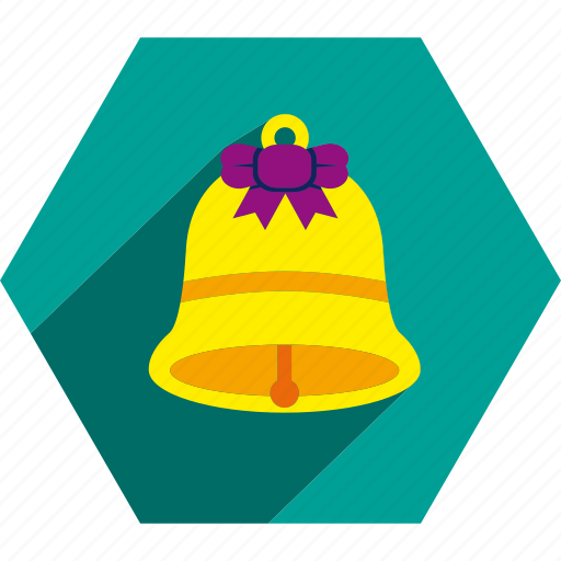 bell, christmas, decoration, ornament, ribbon icon