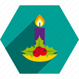 candle, christmas, decoration icon
