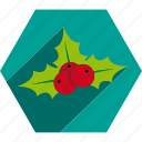 christmas, decoration, kiss, mistletoe, ornament icon