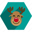 christmas, claus, reindeer, santa, sled icon