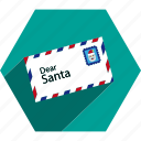christmas, claus, letter, santa icon