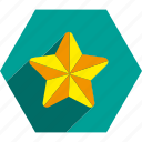 christmas, decoration, holiday, star, tree icon