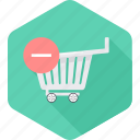 cart, delete, ecommerce, remove, sale, shopping icon