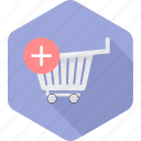 add, buy, cart, items, sale, shopping, trolley icon